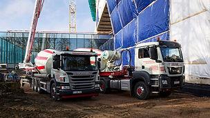 Betonmixers Transportbeton beton