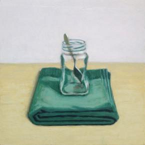 2016 - Still Life - Coffee jar and spoon  - 30 cm x 30 cm - Acrylic paint on plywood