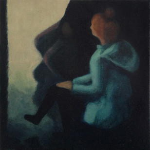 Waiting - No 5 - 16 cm x 16 cm - Oil on plywood