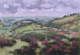 Around Haytor No1 - 19 cm x 27.5 cm - Acrylic paint on card