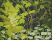 Trees along the River Exe No9 - 19.2 cm x 25.5 cm - Acrylic paint on white board