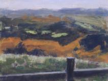 Around Haytor No5 - 21 cm x 28 cm - Acrylic paint on card