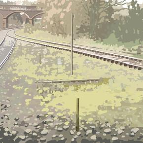 Around Exeter No10 - Ipad Drawing - print size 45cm x 45cm