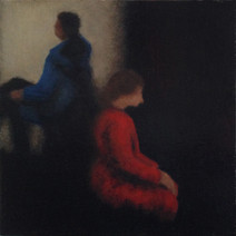 Waiting - No 2 - 17 cm x 17 cm - Oil on plywood