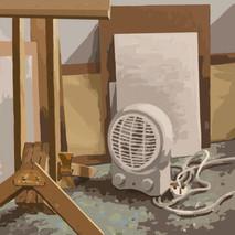 In the studio No4 - 45 cm x 45 cm - iPad Drawing