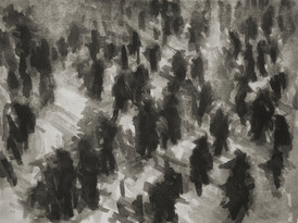 Liverpool Street train station No2 - 21.3 cm x 27.7 cm - Chinese ink on white cartridge paper