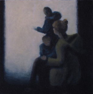 Waiting - No 6 - 17 cm x 17 cm - Oil on plywood