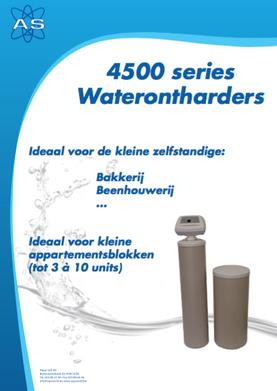 4500 series waterontharders