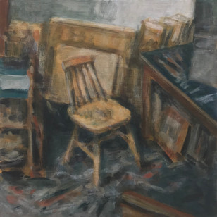 2019 - Still Life - In the studio No3 - 33 cm x 33 cm cm - Acrylic paint on 2mm mdf