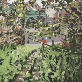 Around Exeter No3 - Ipad Drawing - print size 45cm x 45cm