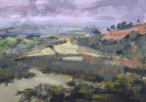 Around Haytor No2 - 19.9 cm x 28.5 cm - Acrylic paint on card
