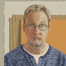 Self portrait - No2 - 45 cm x 45 cm - iPad Drawing