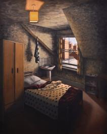 Room 6 - Light towel and chimneys - 82.5 cm x 66 cm - oil on board