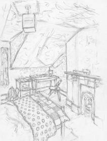Room 6 No2 - 37.2 cm x 28.4 cm - Graphite on white cartridge paper