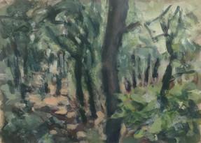 Borgo Pignano No9 - 21 cm x 29 cm - Acrylic paint on cartridge paper