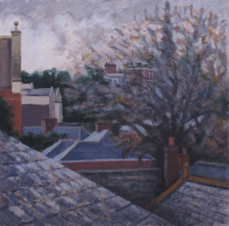 From the kitchen window No2 - 43 cm x 43 cm - Acrylic on board