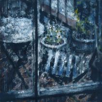 Rain on the Terrace - 35cm x 35 cm - Digital Painting
