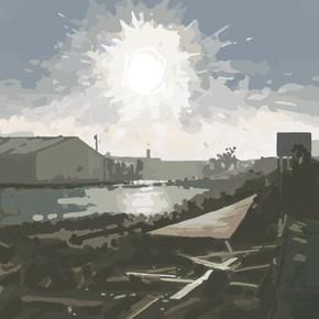 Around Exeter No12 - Ipad Drawing - print size 45cm x 45cm