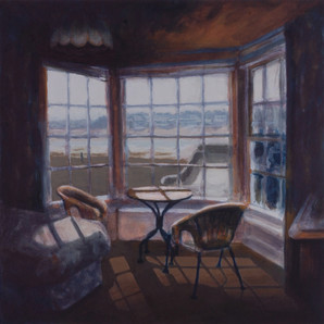The Round House spare room - 42.4 cm x 45.4cm - Acrylic on white board