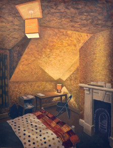 Room 6 - Two lights - 66 cm x 86.2 cm - oil on board