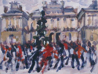 Skating at Somerset House - 23.4 cm x 30.5 cm - Acrylic on white board