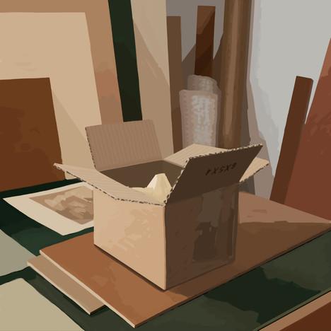 In the studio No2 - 45 cm x 45 cm - iPad Drawing