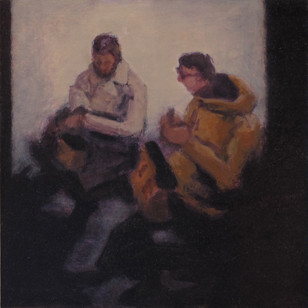 Waiting - No 1 - 19.5 cm x 19.5 - Oil on plywood