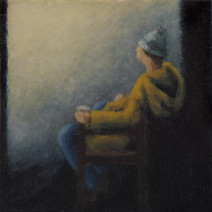 Waiting - No 4 - 17 cm x 17 cm - Oil on plywood
