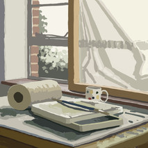 In the studio No1 - 45 cm x 45 cm - iPad Drawing