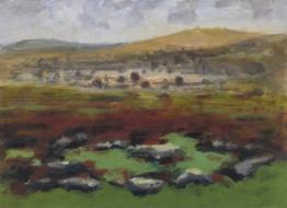 Around Haytor No6 - 21 cm x 29 cm - Acrylic paint on card
