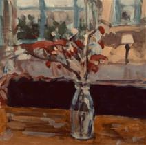 Milk Bottle and Rose-hips -  35cm x 35 cm - Digital Painting