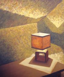 Room 6 - Table light - 36 cm x 30 cm - oil on board