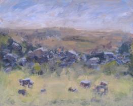 Mist on the moor - 28 cm x 35 cm - Acrylic paint on card