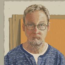 In the studio No6 - 45 cm x 45 cm - iPad Drawing