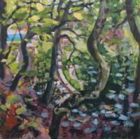 Borgo Pignano No1 - 30.5 cm x 30.5 cm - Acrylic paint on 2mm mdf