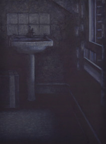 Room 6 - Four in the morning - 89.3 cm x 66 cm - oil on board