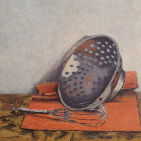 2016 - Still Life - Whisk and Colander - 48 cm x 48 cm - Acrylic paint on plywoodplywood