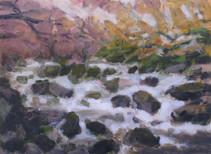 The River Dart No1- 21 cm x 29 cm - Acrylic paint on card