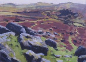 Bonehill No1 - 21 cm x 28.8 cm - Acrylic paint on card