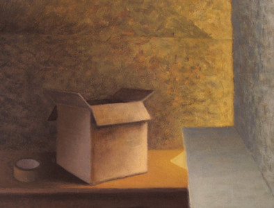 2012 - Room 6 - Box and tape - 26.6 cm x 35 cm - oil on board