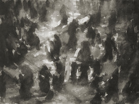 Liverpool Street train station No1 - 21 cm x 29 cm - Chinese ink on white cartridge paper