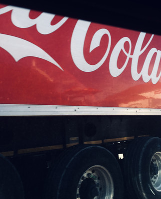 Coke being transported down Somerset East's Nojoli St.