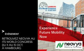 Venez rencontrer Neovya au ITS WORLD CONGRESS du 11 au 15 octobre 2021 à Hambourg