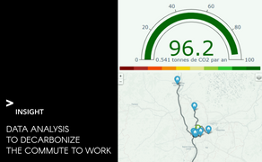 Data analysis to decarbonize the commute to work