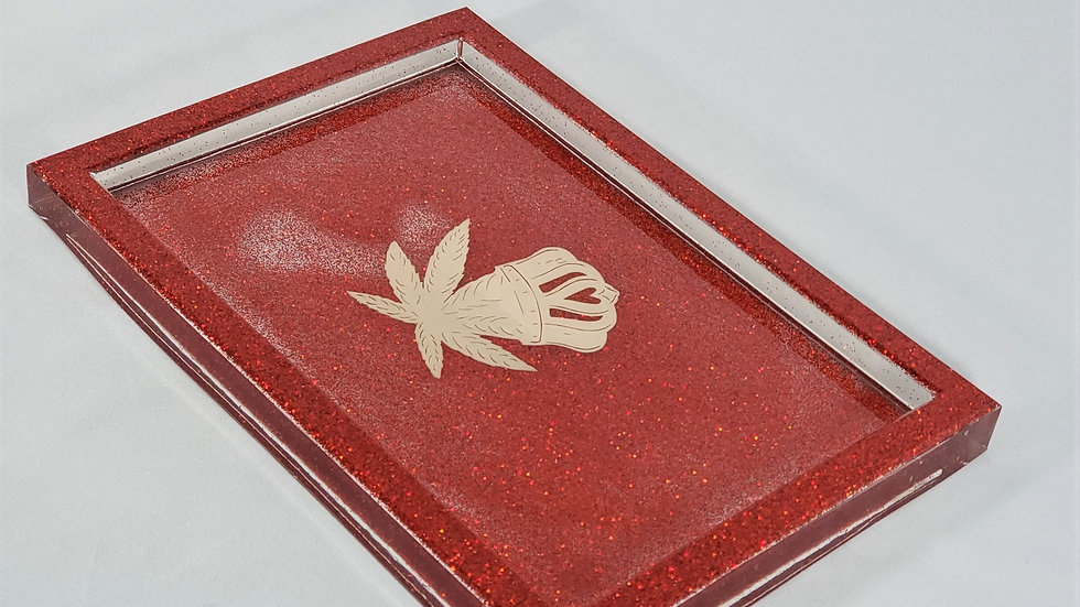 Red Sparkle Tray