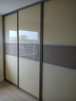 beige and cappuccino sliding doors