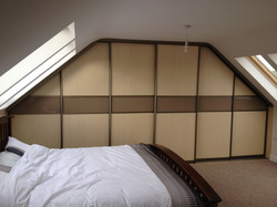 maple and cappuccino sliding doors