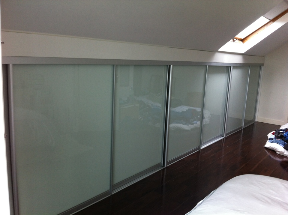 soft white attic sliding doors