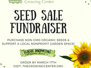Seed Sale Fundraiser Extended
