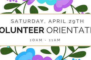 New Volunteer Orientation (April 29th)